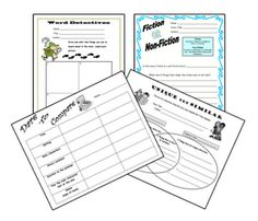 4 free literacy worksheets
