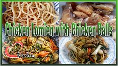 Chicken Lo Mein with Chicken Balls Easy Recipes, Easy Meals, Chicken Lo Mein, Chicken Balls, Make It Yourself, Cooking, Youtube, Food, Easy Punch Recipes
