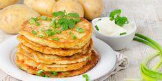 Potato Pancakes - Do you need healthy and delicious recipes? Our selection of nutritional recipes are sure to satisfy. Mini Pancakes, Potato Pancakes, Banana Com Chocolate, Best Potato Recipes, Potato Appetizers, Good Food, Yummy Food, Cheesy Potatoes, Potato Dishes