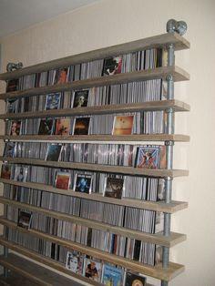 GISS design - CD rack, CD rack, scaffolding tube, Kee Klamp fittings