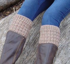 Easy Beginner Knitting PATTERN How to Knit Boot Tops Tutorial Quick Knit Boot Cuffs pattern Instant Digital Download