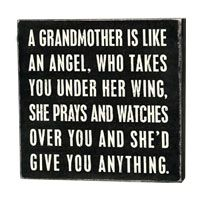 www.shopladeeda.com - Primitives by Kathy, A Grandmother is like an Angel..., Box Sign, $7.00 (http://www.shopladeeda.com/primitives-by-kathy-a-grandmother-is-like-an-angel-box-sign/)