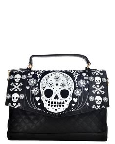 Loungefly Skull Quilted Bag