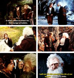 BFFs :) someone should put that first picture together with the one of Gandalf saying almost the same thing to Frodo at Bag End