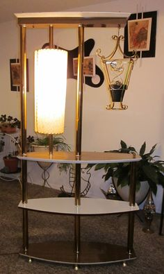 asian inspired mid century divider