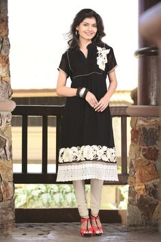 $61.04 Black Embroidery Faux Georgette Anarkali Salwar Kameez 22621