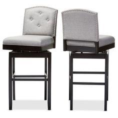 Pepperton Tufted Swivel Barstool Swivel counter stools