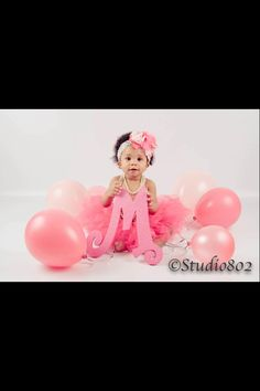My little ones pretty pink 1 year old pictures !!!! She looks so adorable!