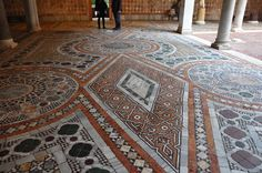 Precious stones in the courtyard of a Venetian palace Venice Off the Beaten Path tour Gothic Style Architecture, Renaissance Architecture, Ancient Architecture, Paving Pattern, Palace Interior, Sistine Chapel, Wooden Ceilings, Marble Mosaic, Mosaic Art