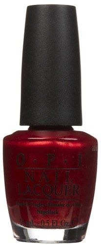"OPI Brand Nail Polish in ""An Affair In Red Square,"" $8.50 via Soap.Com --- This is my favorite red nailpolish ever. It's deep and dark and it shimmers and moves in the light gorgeously. Plus it's the perfect #RedSox red! Buying a new bottle for baseball season 2012, since my bottle from 2 years ago is finally dead. (I wear it a lot, so the quality on top of lasting that long is what really justifies the high price tag.)"
