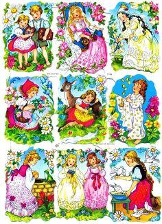Vintage Cards, Retro Vintage, Sticker Paper, Stickers, Retro Toys, Bedtime Stories, Vintage Pictures, Cute Art, Paper Dolls