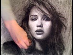 """""""Drawing upside down (or sideways) can actually be very helpful for beginners because it forces you to draw what you see, not what you think."""" says portrait artist Xiaonan Sun. Pencil Art Drawings, Abstract Drawings, Amazing Drawings, Amazing Art, Amazing Pics, Jennifer Lawrence Hunger Games, What To Draw, Online Drawing, Teaching Art"""