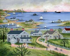 Summer in Sconset by capecodfolkart on Etsy, $45.00