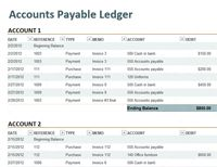 Accounts Payable  Excell