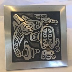 Vtg Orchard Studio British Columbia Canada Tribal Art Plaque Coast Salish Haida