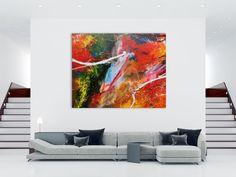 Abstraktes Acrylbild bunt viele Farben sehr modern 160x200cm von xxl-art.de