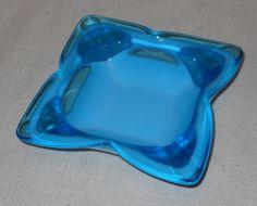 Mid Century Modern Art Glass Biomorphic Ashtray by Sasaki from LovesVintageFinds, $13.00