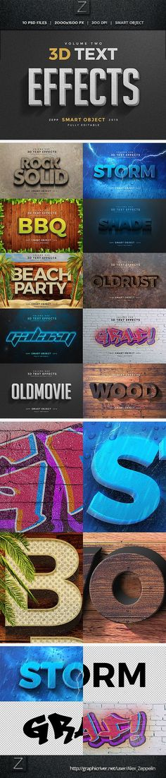 3D Text Effects Photoshop Actions. Download here: http://graphicriver.net/item/3d-text-effects-vol2/11477715?ref=ksioks
