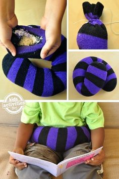 How to make a weighted lap band to help fidgety kids calm down,
