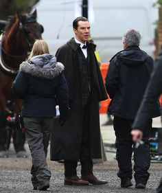 Sherlock Christmas Special / Benedict Cumberbatch and Martin Freeman film a scene for the 'Sherlock' christmas special in LondonFeaturing: Martin FreemanWhere: London, United KingdomWhen: 07 Feb 2015Credit: WENN.com