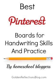 Follow great homeschool blogger boards for handwriting skill activities and ideas! | www.GoldenReflectionsBlog.com