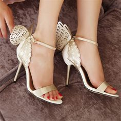 New-Womens-Dreamy-Butterfly-Wings-Ankle-Strap-Gladiator-Sandals-Stiletto-Pumps