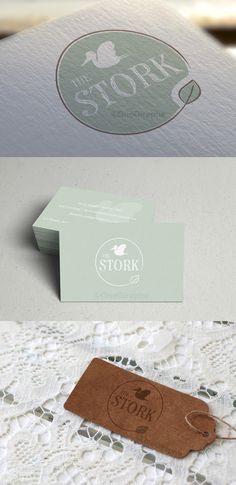 The stork (Mom Fitness Logo) Kids Branding, Branding Design, Logo Design, Graphic Design, Circular Logo, Logo Inspiration, Creative Inspiration, Organic Brand, Floral Logo