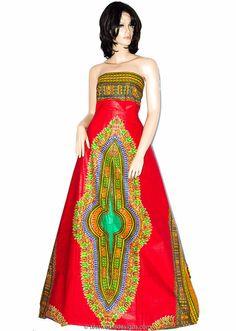 Dashiki fabric Wholesale Bright red  African by TessWorldDesigns Dashiki  Fabric 7e52907fba