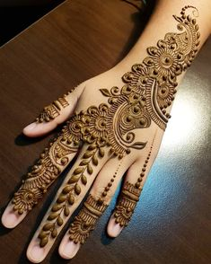 Browse the latest Mehndi Designs Ideas and images for brides online on HappyShappy! We have huge collection of Mehandi Designs for hands and legs, find and save your favorite Mehendi Design images. Henna Hand Designs, Dulhan Mehndi Designs, Latest Simple Mehndi Designs, Mehndi Designs Finger, Mehndi Designs Book, Mehndi Designs For Beginners, Modern Mehndi Designs, Mehndi Designs For Girls, Mehndi Design Photos
