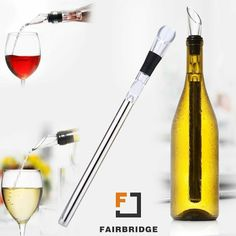 Cork /& Leaf 3-in-1 Stainless Steel Iceless Wine Chiller Stick with Aerator Pourer for Wine Bottle Cooler Stick Wine Lover Gifts /& Accessories