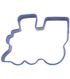 "Wilton Metal Cookie Cutter 3""-Blue/Train, , hi-res"