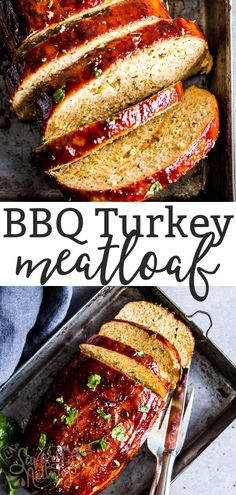 BBQ Turkey Meatloaf is an easy and healthy main dish the whole family will love. Sneaky vegetables keep it juicy and add extra goodness to your dinner! | #recipe #easyrecipes #dinner #easydinner #kidfriendly #familyfood #turkey #turkeyrecipes #meatloaf #comfortfood #healthy #cleaneating #realfood #healthyfood #healthyrecipes #healthyliving