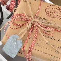 Vintage Postage Ribbed Brown Kraft Wrapping Paper