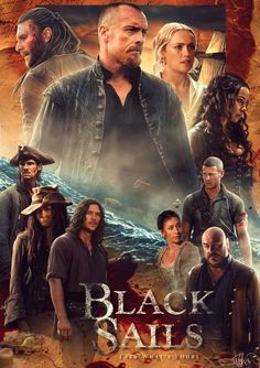 Black Sails 3 poster (by Jonathan McFerran) Black Sails Tv Series, Black Sails Starz, Charles Vane, Toby Stephens, Chica Cool, Pirate Adventure, Pirate Life, Comic, Treasure Island