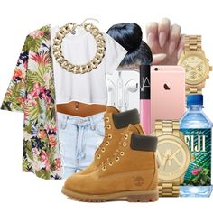 M A L A N I  by honey-cocaine1972 on Polyvore featuring CC, Timberland, Michael Kors, Topshop, NARS Cosmetics and CO
