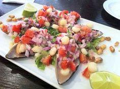 Choritos a la chalaca - 15 Peruvian Foods You Have to Try via Buzzfeed