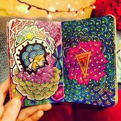 """Finished! ⚡️#moleskine #pens #doodle #sharpie #rainbow """""""