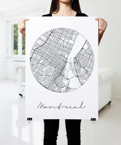 MONTREAL Map Print Modern City Poster Black and White by PFposters