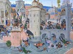 """Le jacquerie (chiamate così dal nomignolo che venne dato ai contadini """"Jacques Bonhomme"""") avvennero nel 1358,durante la guerra dei cento anni, furono rivolte contadine nate nelle campagne della regione a nord di Parigi, a causa del saccheggiamento dei campi francesi. Cause e spiegazione jacquerie: http://badwila.net/jacquerie/index.html"""