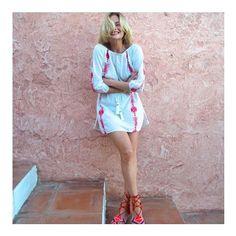 All time fave @pandorasykes in BARDOT ❣✨⚓️❣✨⚓️❣✨⚓️ #Bardot #resortwear #embroidered #citystyle #summerstyle #resort #beachstyle #style #effortless #blogger #pandorasykes