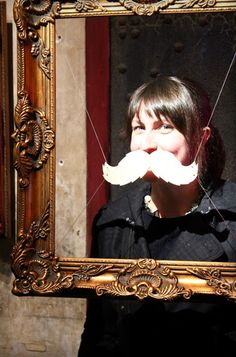Great idea for a moustache photo booth (from one of my favorite blogs!)!