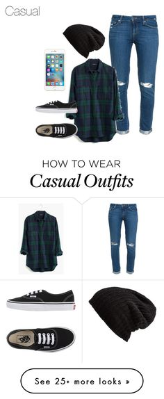 """Casual"" by hockeymusiclife on Polyvore featuring Paige Denim, Madewell, Vans and Free People"
