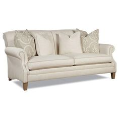 Huntington House 7428 Casual Rolled Arm Sofa with Large Accent Pillows - Baer's Furniture - Sofa Miami, Ft. Lauderdale, Orlando, Sarasota, Naples, Ft. Myers, Melbourne Florida