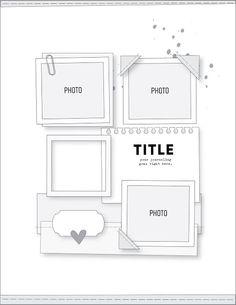 Citrus Twist Kits: Sunday Sketch January 2019 with Kira Ness Scrapbook Layout Sketches, Scrapbook Templates, Scrapbook Pages, Scrapbooking, Page Maps, Polka Dot Paper, Photo Corners, Grid Layouts, Toned Paper