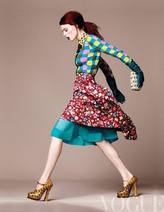 Coco Rocha in Marc Jacobs RE13 for Vogue - I like the colours