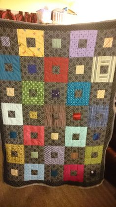 """Manly squares 40.5x55"""" sold//25+ fabrics Squares, Fabrics, Quilts, Blanket, Knitting, Tela, Comforters, Blankets, Bobs"""