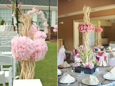 reusing ceremony decor in the reception