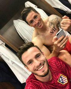 Saul Ñiguez and Fernando Torres Atlético Madrid