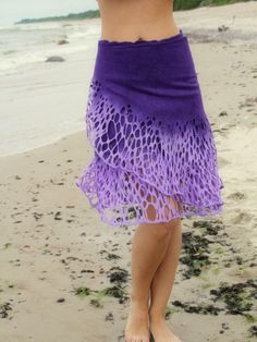 Felted purple Levander skirt lace Felt light by DosethHandmade
