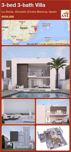 3-bed 3-bath Villa in La Zenia, Alicante (Costa Blanca), Spain ►€459,000 #PropertyForSaleInSpain